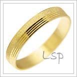 Snubní prsteny LSP 1666 žluté zlato