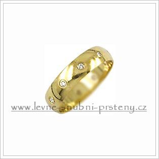 Snubní prsteny LSP 1668 žluté zlato s diamanty