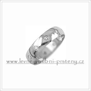 Snubní prsteny LSP 1668b bílé zlato