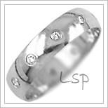 Snubní prsteny LSP 1668bz bílé zlato