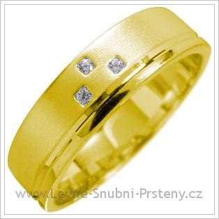 Snubní prsteny LSP 1669 žluté zlato