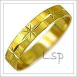 Snubní prsteny LSP 1674 žluté zlato