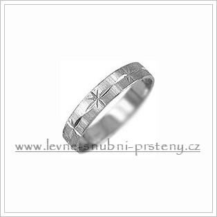 Snubní prsteny LSP 1674b bílé zlato