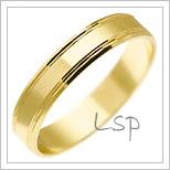 Snubní prsteny LSP 1675 žluté zlato