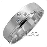 Snubní prsteny LSP 1676 bílé zlato