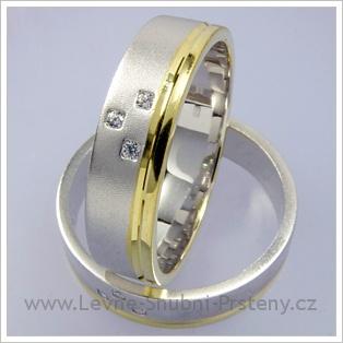 Snubní prsteny LSP 1678 kombinované zlato