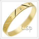 Snubní prsteny LSP 1679 žluté zlato