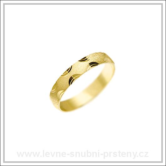 Snubní prsteny LSP 1680 žluté zlato