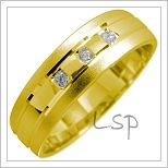 Snubní prsteny LSP 1681 žluté zlato