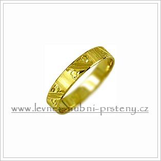 Snubní prsteny LSP 1682 žluté zlato