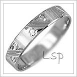 Snubní prsteny LSP 1682b bílé zlato