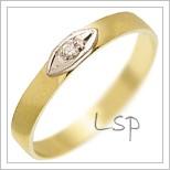 Snubní prsteny LSP 1683 žluté zlato