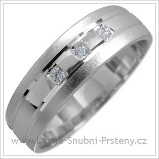Snubní prsteny LSP 1685 bílé zlato