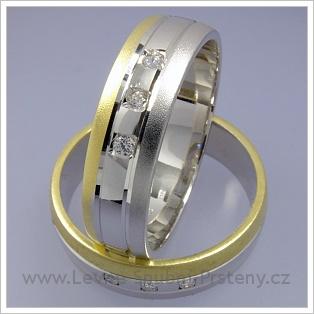 Snubní prsteny LSP 1688 kombinované zlato