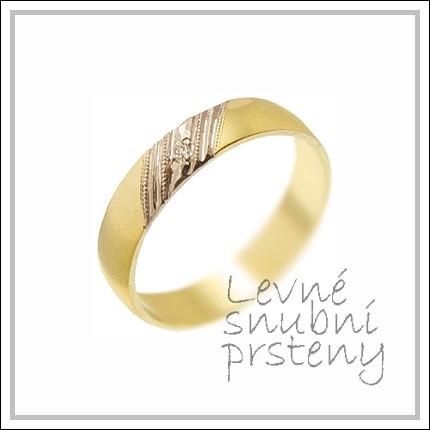 Snubní prsteny LSP 1691 žluté zlato