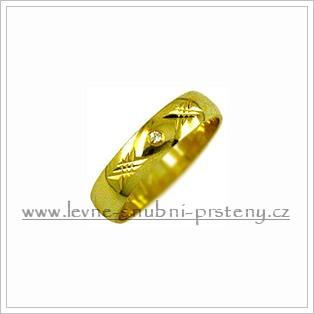 Snubní prsteny LSP 1692 žluté zlato s diamanty