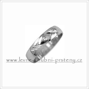 Snubní prsteny LSP 1692b bílé zlato