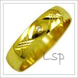 Snubní prsteny LSP 1692z žluté zlato se zirkony