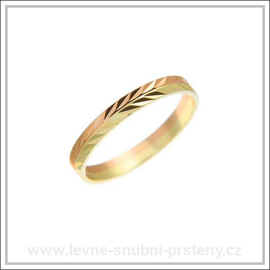 Snubní prsteny LSP 1694 kombinované zlato