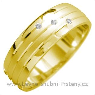 Snubní prsteny LSP 1695 žluté zlato