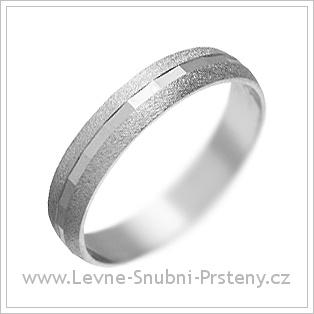 Snubní prsteny LSP 1696 bílé zlato