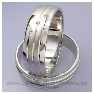 Snubní prsteny LSP 1697 bílé zlato