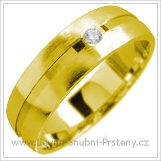 Snubní prsteny LSP 1704 žluté zlato