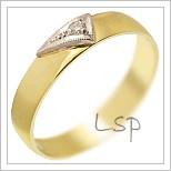 Snubní prsteny LSP 1705 žluté zlato