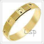 Snubní prsteny LSP 1706 žluté zlato