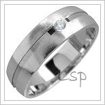 Snubní prsteny LSP 1708 bílé zlato