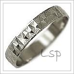 Snubní prsteny LSP 1709b bílé zlato