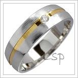 Snubní prsteny LSP 1710 kombinované zlato