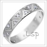 Snubní prsteny LSP 1711 bílé zlato