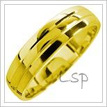 Snubní prsteny LSP 1713 žluté zlato