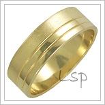Snubní prsteny LSP 1714 žluté zlato