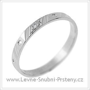Snubní prsteny LSP 1716 - bílé zlato