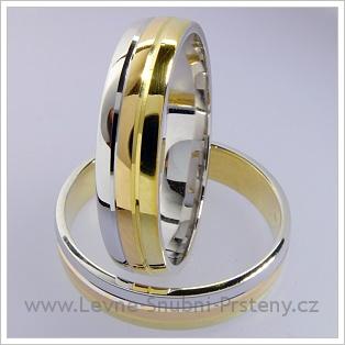 Snubní prsteny LSP 1718 kombinované zlato