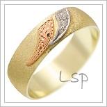 Snubní prsteny LSP 1719 žluté zlato