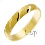 Snubní prsteny LSP 1721 žluté zlato