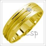 Snubní prsteny LSP 1722 žluté zlato