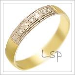 Snubní prsteny LSP 1724 kombinované zlato