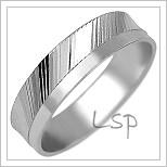 Snubní prsteny LSP 1726b bílé zlato