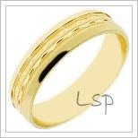 Snubní prsteny LSP 1727 žluté zlato