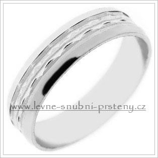 Snubní prsteny LSP 1727b bílé zlato