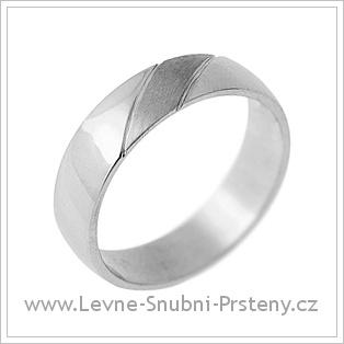 Snubní prsteny LSP 1729 - bílé zlato