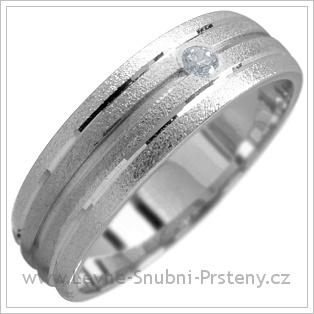 Snubní prsteny LSP 1730 bílé zlato