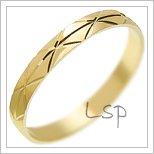 Snubní prsteny LSP 1732 žluté zlato