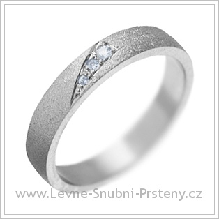 Snubní prsteny LSP 1733 bílé zlato