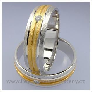 Snubní prsteny LSP 1734 kombinované zlato