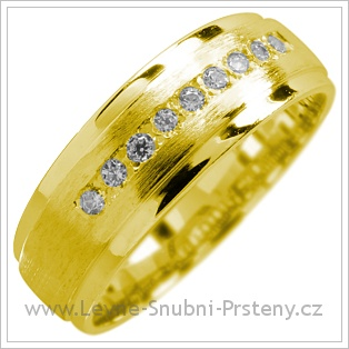 Snubní prsteny LSP 1735 žluté zlato